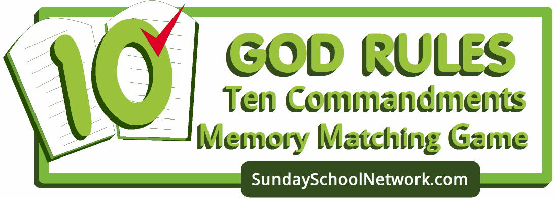 Ten Commandments Memory Matching Card Game