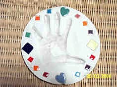 Prayer Hand Plaster Craft