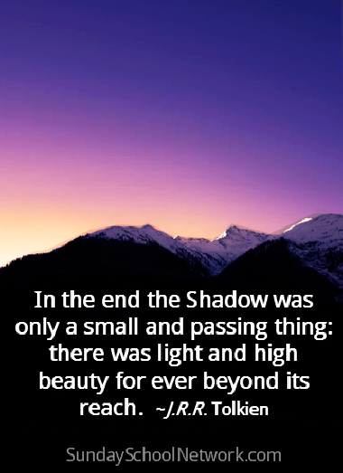 in the end, the shadow was only a small and passing thing