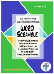 Bible Word Scramble Puzzle Christian